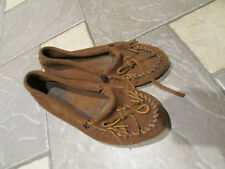 MINNETONKA BROWN CHESTNUT MOCCASIN  SHOES WOMENS 7.5-8  SLIP ON LOAFERS FREE SHP
