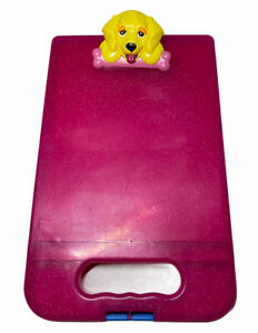 Lisa Frank Be Creative Storage Clipboard Pink Casey Dog Yellow Puppy 2012 Case