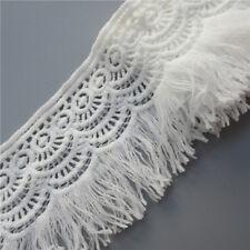 2 Meter Width 8cm Cotton Crochet Fringe Tassel Lace Trim Ribbon Sewing Craft DIY
