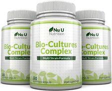Probiotics 3 Bottles 540 Capsules 10 Billion CFUs Yeast Infection Leaky Gut Nu U