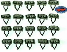 "GM 11/16""x9/16"" Body Belt Side Door Top Moulding Molding Trim Clips Clip 20pc O"