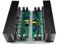 Assembled L15 stereo HIFI IRFP240 MOSFET power amplifier board with heatsink