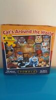 Eric Dowdle Cats Around The World Puzzle 100 Pieces
