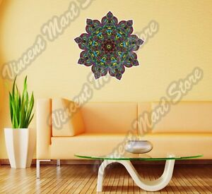 Mandala Floral Abstract Spiral Colorful Wall Sticker Room Interior Decor 22""