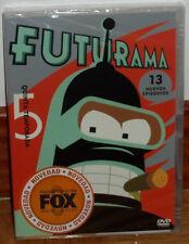 FUTURAMA 5º TEMPORADA COMPLETA 2 DVD NUEVO PRECINTADO CIENCIA FICCION (SIN ABRIR