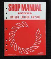 GENUINE HONDA EM1600 EM1800 EM2200 GENERATOR SERVICE REPAIR SHOP MANUAL NICE