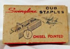 Vintage Swingline Inc Box of Cub Fastens Staples Chisel Pointed Made in the USA