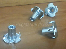4x T-NUTS M8(8mm) DIAMETER SCREW. T NUTS  FIXING TEE NUTS : SETTEE, CHAIR, SOFA