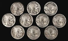 "10 Buffalo Nickel Concho Buttons - 3/16"" Chicago Screw Back - M - BIN"