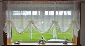 SOFIA VOILE TIE BLINDS 8 DIFFERENT WIDTHS - MADE IN UK - FREE UK POSTAGE