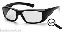 Pyramex Emerge Full Lens Magnification Safety Glasses 2.0 MAGNIFICATION!!
