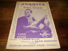 TINO ROSSI - Juanita - PARTITION !!!!!!!!!