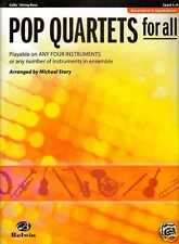 POP QUARTETS FOR ALL CELLO VARIOUS STYLES STRING BASS MUSIC BOOK LEVEL 1-4