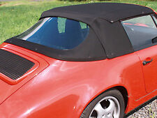 Porsche 911 Convertible Top Hood Black German Twillfast 1983-1994