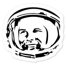 """Gagarin SPACE Soviet Astronaut bumper sticker 4"""" x 4"""""""