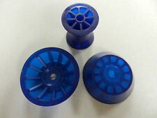 """3"""" Blue PVC Bow Roller and Large Bell End cap assembly, Marine, boat trailer"""