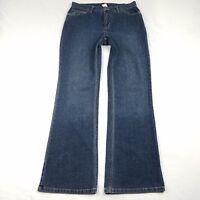 Jones New York Sport Jeans Size 8 Flare Medium Wash Stretch Denim Pants Blue F18