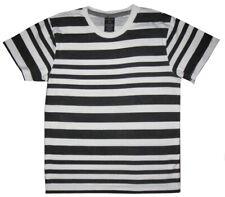 PREOWNED CALVIN KLEIN BLACK & WHITE STRIPES T SHIRT KIDS BOYS M 5