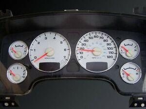 Dodge Ram 2002-2009  Dash Instrument Chrome Rings Polished Aluminium 6pcs