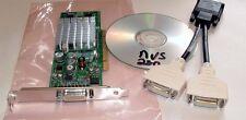 Nvidia Quadro NVS 280 64MB Dual Display DVI VGA Vista Win7 PCI Video Card + Cbl