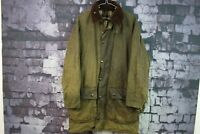 Mens Barbour Border Green Wax Jacket size 97Cm/38In No.Z291 12/10