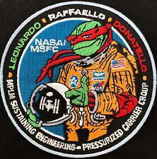 "RARE- NASA NINJA TURTLES ISS SPACE MISSION PATCH- 3.5"" Diameter"