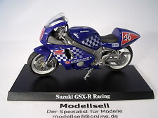 Motocicleta Suzuki GSX-R 600 Racing de Majorette en 1:18 stand placa registro OVP