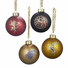 Game of Thrones House Sigil Christmas Ornaments,Set of 4,  by Kurt Adler