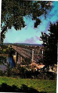 Vintage Postcard - Aerial View The Old Bridge Ft Leavenworth Kansas KS #6056