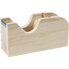 Small natural wooden tape dispenser - Scandi paint decoupage