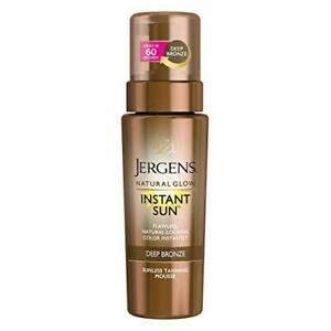 Jergens 20938 Natural Glow Instant Sun Body Mousse, Deep Bronze Tan, 6oz Sunl...