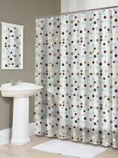 NEW Splash Home Peva 4G Jot Curtain Design for Bathroom Shower Earthtones Circle