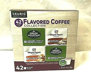 KEURIG FLAVORED COFFEE 42-Count VARIETY PACK K-CUP PODS Arabica Coffee