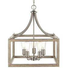 Home Decorators Boswell Quarter Collection 5-Light Brushed Nickel Pendant