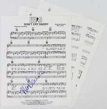 "Mac Davis ELVIS PRESLEY Signed Autograph ""Don't Cry Daddy"" Sheet Music"