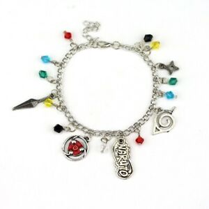 Naruto Combination Silver Plated Charm Bracelet Perfect Gift AU 25CM