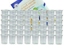 48 Weck Gläser Glas 160 ml Marmeladengläser Einmachglas Einweckglas Rezeptheft