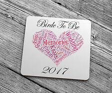 NUOVA Sposa a Essere di 2017 Sottobicchieri regalo btb101 romantico grazie migliori Wedding Day