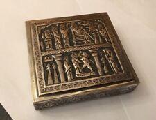 Antique Vintage Middle Arabic Islamic Mamluk Hallmarked Silver Figural Box