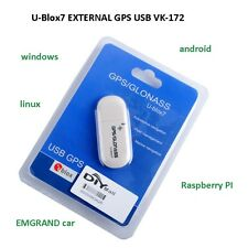 U-Blox7 EXTERNAL GPS USB VK-172 GMOUSE GLONASS Raspberry Pi 3 Win 10 8 7 xp...