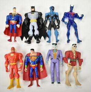 Batman Beyond Joker Blue Beetle Plastic Man Superman Flash Figure Lot