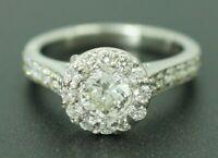 EGL USA Heavy Platinum 1.56CTW G VS Carat Diamond Gold Engagement Ring Vintage