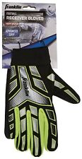 Franklin Sports Football Receiver Gloves Elastic Compression Wrist, Youth Medium