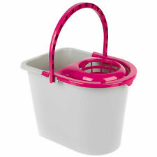 Kleeneze® KL062598EU Bucket With Mop Wringer & Carry Handle | 14 L | Pink/Grey