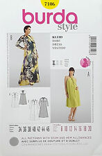BURDA PATTERN DRESS MATERNITY LENGTH & SLEEVE OPTIONS VERY EASY SZ 8-20  # 7106