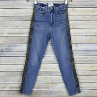 McGuire Denim Ibiza Jeans Army Doll Camouflage Side Stripe Slim Crop Ankle 25