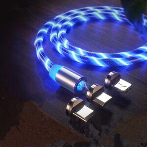 Magnetic Luminous Cable Mobile Phone Lighting Type C Micro USB Charging