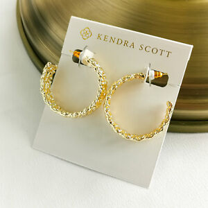 Kendra Scott Natalie Hoop Earrings Gold