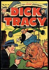 Dick Tracy (1950) #60 1st Print Harvey Lion Attack Cov Million Dollar Murder VF