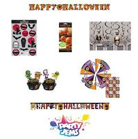 Halloween Decorations Range - Banners, Stickers & Games